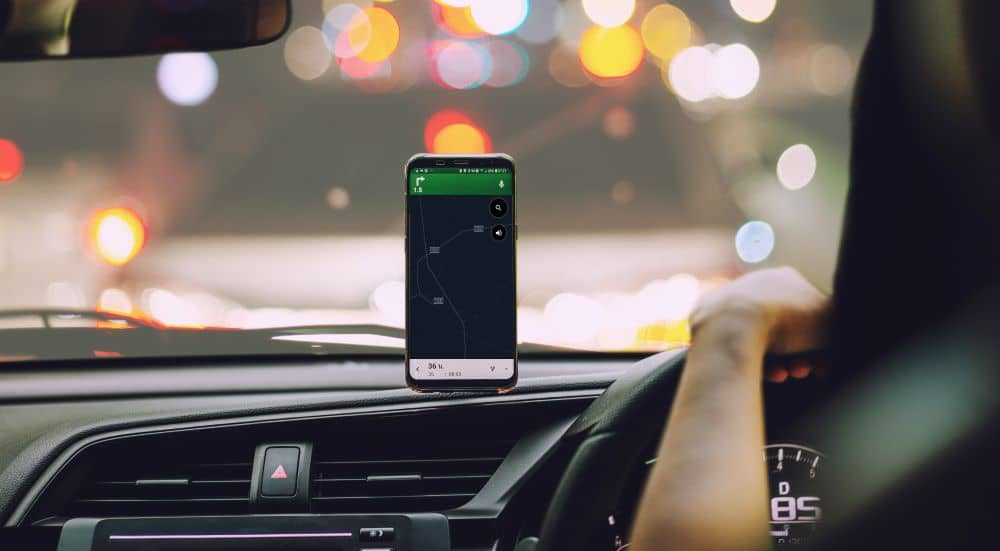Having a phone mount allows you to use your phone hands-free while driving.